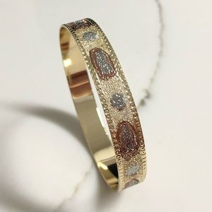 Jewelry - 18k Gold Filled Virgin Guadalupe Bangle